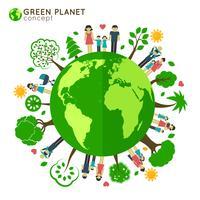 Écologie du globe familial vecteur