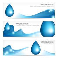 Ensemble de bannières d'eau