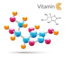 Molécule de vitamine c vecteur