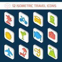 Set d'icônes de voyage