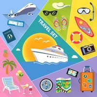 Ensemble d'icônes de voyage