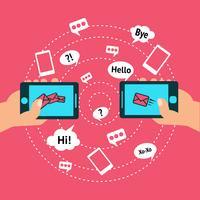 Communication et téléphone intelligent vecteur