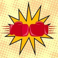 Gants de boxeur frappant
