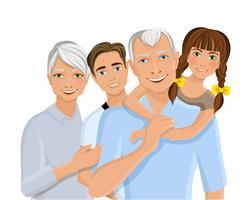 Grands-parents et petits-enfants vecteur