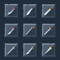 Jeu d'icônes d'épée vecteur