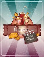 Affiche de cinéma croquis vecteur