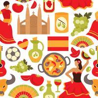 Modèle sans couture de l'Espagne vecteur