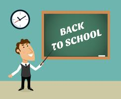 Retour à la scène scolaire vecteur