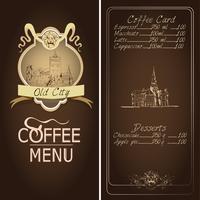 Modèle de menu de restaurant de la ville ancienne