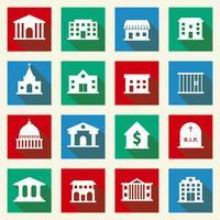 Icônes de bâtiments gouvernementaux vecteur