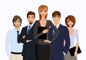 Femme d'affaires avec l'équipe des affaires
