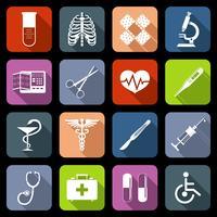 Icônes médicales à plat