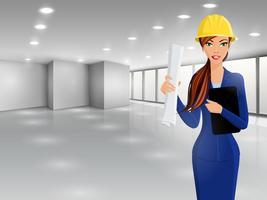 Portrait d'ingénieur femme