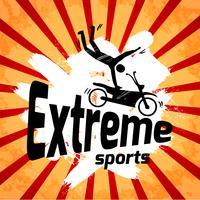 Affiche de sports extrêmes vecteur