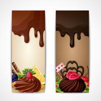 Bannières de chocolat verticales