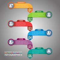 Modèle d'infographie en papier vecteur