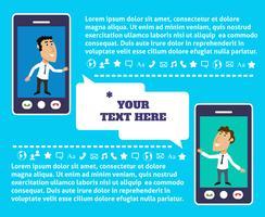 Présentation de la communication mobile vecteur