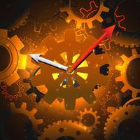 Fond d'horloge à engrenages