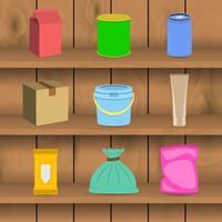 Pack étagère d'icônes de conteneur