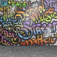 Fond de mur de graffitis