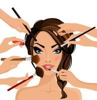 Concept de maquillage vecteur