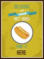 Affiche de hot-dog vecteur