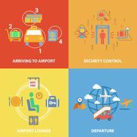 Composition plate d'icône d'aéroport