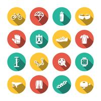 Ensemble d'icônes de vélo
