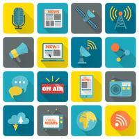 Ensemble d'icônes médiatiques
