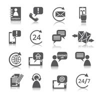 Contactez-nous Icônes de service vecteur