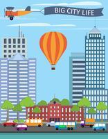Affiche de bâtiments modernes