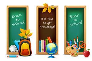 Bannières de tableau scolaire vecteur