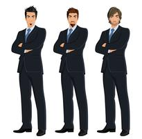 Ensemble d'hommes d'affaires