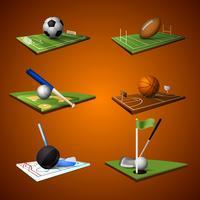 jeu d'icônes sport emblème vecteur