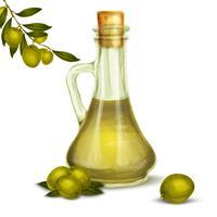 Bouteille d'huile d'olive vecteur