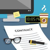 Contrat sur bureau vecteur