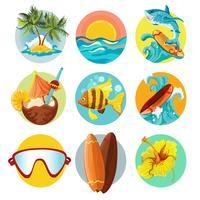 Jeu d'icônes de surf