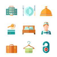 Ensemble d'icônes d'hôtel