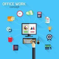 Concept de travail de bureau