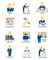 Ensemble d'icônes d'ingénieur