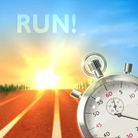 Affiche de sport chronomètre