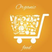 Panier d'aliments biologiques