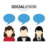 Bulles de réseaux sociaux vecteur