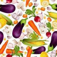 Modèle sans couture réaliste de légumes