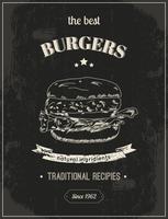 Affiche hamburger vecteur