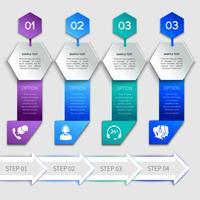 Modèle de service infographie origami vecteur