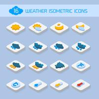Icônes météo isométriques vecteur