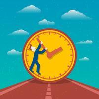 Affiche de gestion du temps vecteur