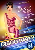 Affiche de la soirée disco vecteur