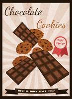 Affiche rétro bonbons